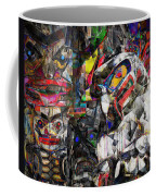 Cubist Photographic Composition Of Totem Poles Coffee Mug