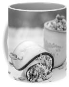Cucumber Rolls Black And White Coffee Mug