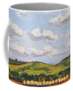 Cumulus Clouds Over Flint Hills Coffee Mug by Erin Fickert-Rowland