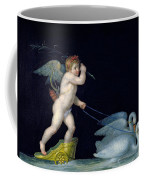 Cupid Being Led By A Pair Of Swans Coffee Mug