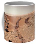 Curiosity Tracks Under The Sun In Mars Coffee Mug