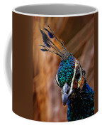 Curious Peacock Digital Art Coffee Mug