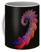 Curly Swirl - Digital Painting Effect Coffee Mug