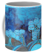 Curly Trees In Blu Coffee Mug