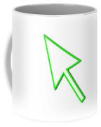 Cursor Arrow Mouse Green Line Coffee Mug