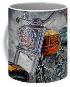 Custom Bike In Orange And Black Coffee Mug