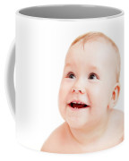 Cute Happy Baby Smiling On White Coffee Mug
