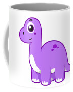 Cute Illustration Of A Brontosaurus Coffee Mug