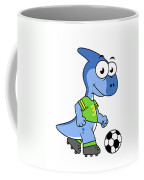 Cute Illustration Of A Parasaurolophus Coffee Mug
