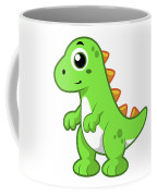 Cute Illustration Of Tyrannosaurus Rex Coffee Mug