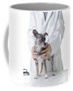 Cute Little Dog At The Vet Coffee Mug