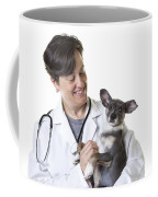 Cute Little Puppy With Vet Coffee Mug