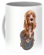 Cute Puppy Card Coffee Mug by Edward Fielding