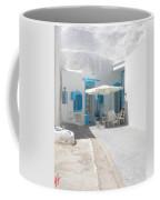 Cute Santorini Island Hause  Coffee Mug