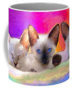 Cute Siamese Kittens Cats  Coffee Mug