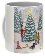 Cutting Our Tree Coffee Mug