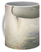 Cutting Through The Fog With Turboprop Over Alberta Coffee Mug