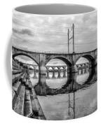 Cv - Susquehanna River Bridge Harrisburg  Pennsylvania In Black  Coffee Mug