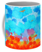 Cyan Landscape Coffee Mug by Pixel Chimp
