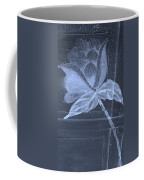 Cyan Negative Wood Flower Coffee Mug