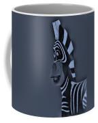 Bluegray Zebra Coffee Mug