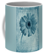 Cyanotype Gerbera Hybrida With Textures Coffee Mug