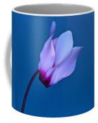 Cyclamen On Blue Coffee Mug