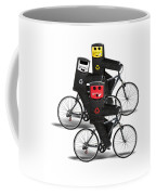 Cycling Recycle Bins Coffee Mug