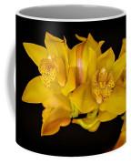 Cymbidiums On Black Coffee Mug