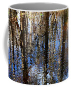 Cypress Reflection Nature Abstract Coffee Mug by Carol Groenen