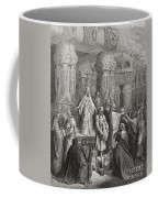 Cyrus Restoring The Vessels Of The Temple Coffee Mug by Gustave Dore