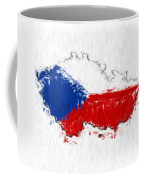 Czech Republic Painted Flag Map Coffee Mug