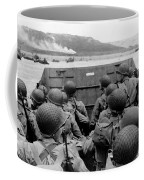 D-day Soldiers In A Higgins Boat  Coffee Mug by War Is Hell Store