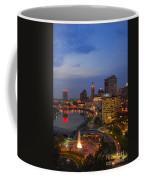 D101l Columbus Ohio Night Skyline Photo Coffee Mug