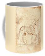 da Vinci Horse in Piaffe Coffee Mug