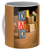 Dad - Alphabet Blocks Fathers Day Coffee Mug
