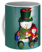 Daddy And Baby Snowmen Decorations Coffee Mug