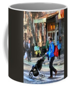Daddy Pushing Stroller Greenwich Village Coffee Mug