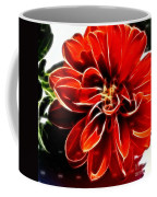 Dahlia Expressive Brushstrokes Coffee Mug