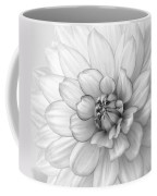 Dahlia Flower Black And White Coffee Mug