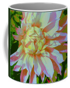 Dahlia In Pink And White Coffee Mug