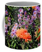 Dahlias And Asters Coffee Mug