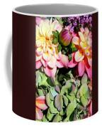 Dahlias And Hydrangeas Bouquet Coffee Mug