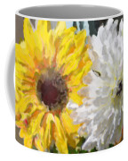 Daisies And Sunflowers - Impressionistic Coffee Mug