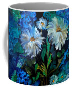 Daisies At Midnight Coffee Mug
