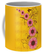 Daisies Design - S01y Coffee Mug by Variance Collections
