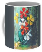 Daisies In A Green Vase Coffee Mug