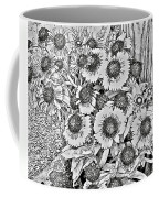 Daisies In Relief Coffee Mug