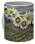 Daisies In Wreath Coffee Mug