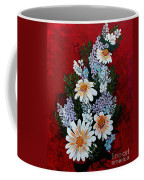 Daisies Lilacs And Forget Me Nots Coffee Mug